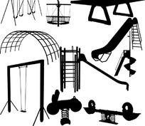 多种体育器械矢量素材