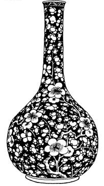 梅花花纹元青花花瓶