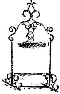 古代鱼纹屏风图案矢量素材
