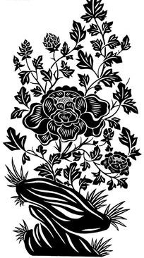 玉米图案黑白装饰画图片