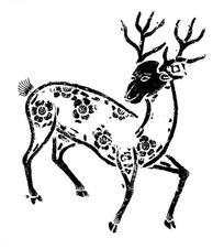 一只梅花鹿