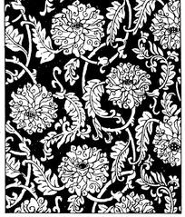 缠枝宝相花纹构成的背景花纹图案