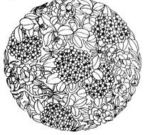 传统圆形花纹图案矢量素材