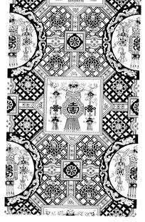古典矢量寿字图案矢量素材