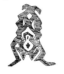 简单几何线条画人物画-站立的抽象人物