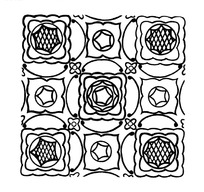 连弧线圆形菱形多边形构成的背景花纹素材