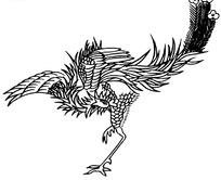 矢量手绘传统凤凰插画