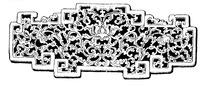 缠枝花纹装饰拐子龙形边框古器矢量图