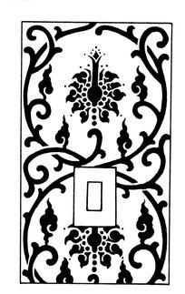 圆形缠枝纹宝相花纹回形纹构成的矢量竖图
