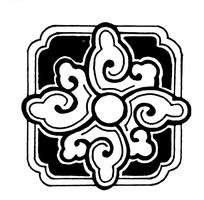 中国传统方形图案矢量素材