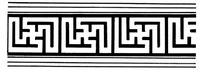 古典矢量线条图案