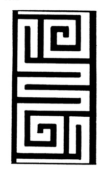 古典矢量线条图案素材