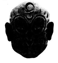 传统黑白美猴王面具矢量素材