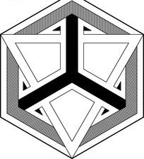 六边形图案里的三角形图案