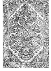 缠枝花纹二龙戏珠纹花瓶角花纹构成的框图