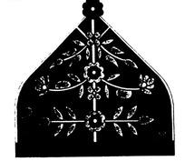 对称花朵枝叶纹构成的民族服饰花纹图案