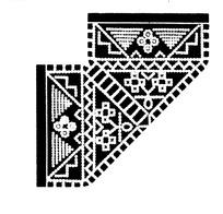 人形/三角/折线/方格构成的民间布料花纹图案