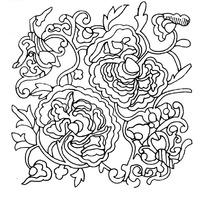 古典牡丹纹样矢量素材