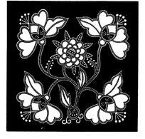 中国古典图案-花朵叶子构成的方形图案图片