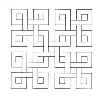 传统图案方形矢量花纹素材