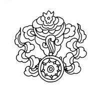 中国古典图案-法轮和宝螺