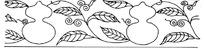 葫芦瓜与瓜滕二方连续图案