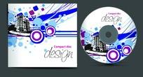 建筑风格光盘封面设计