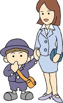 卡通小孩背书包图片大全 卡通小孩画画图片 小孩背书包上学卡通图片