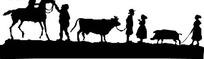 骑马的人和放牛的牧童