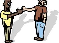 握手的大人