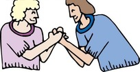 握手的妇女