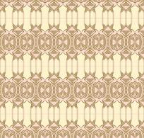 浅黄粉底金色几何对称排列图案