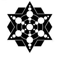 圆和六角形六边形组成的图案