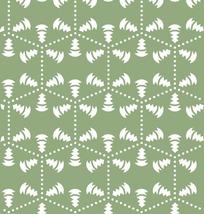 绿色背景上的六边形图案和锥形图案