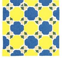 蓝色黄色花纹格子图案