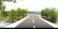 景观道路效果图