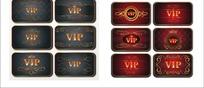 烫金花纹VIP卡片矢量素材