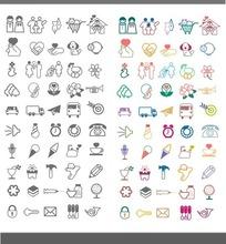 50种简约卡通小图标