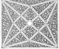 缠枝纹圆形菱形三角几何纹构成的图案