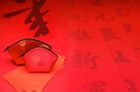 春节对联红包底纹