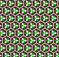 六边形上的六角形图案