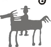 男人骑马剪影