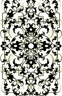 细藤蔓卷曲缠枝纹构成的图案