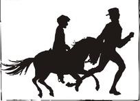 学骑马剪影