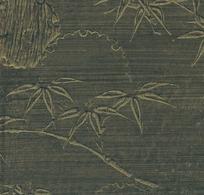 竹叶纹木版刻画图案背景