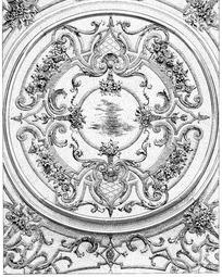 环形纹卷曲纹花叶纹缠枝纹菱形格构成的图案