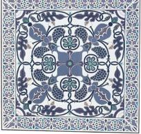 对称缠枝葡萄纹装饰的地毯花纹图案