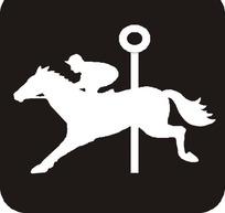 骑马的人物剪影