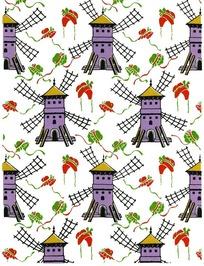 风车与帽子图案
