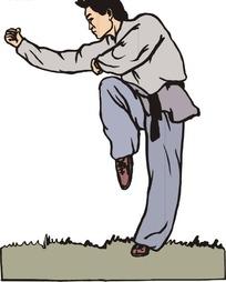 练醉拳的男子图片